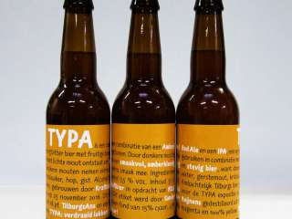 Typography beer label exposition TYPA