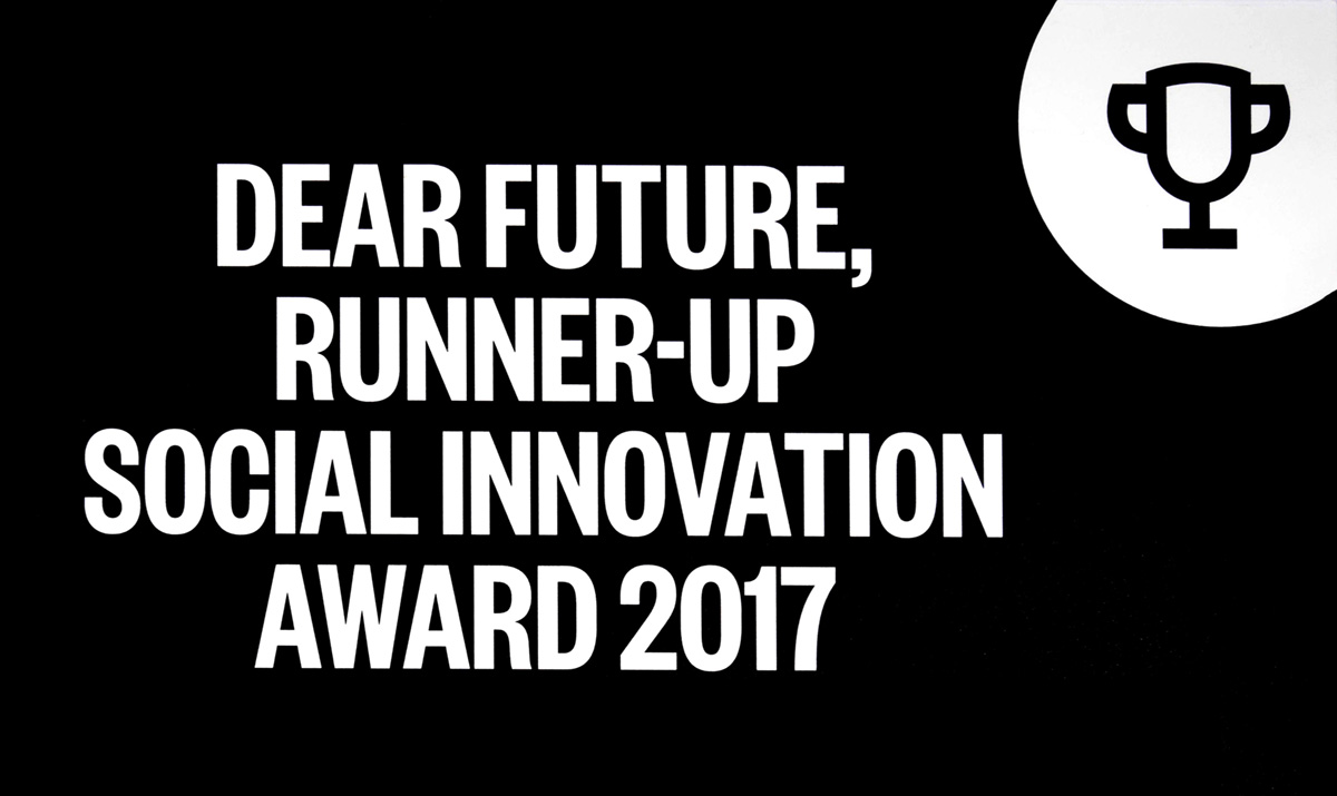 Dear future, Runner-up Social Innovation Award 2017